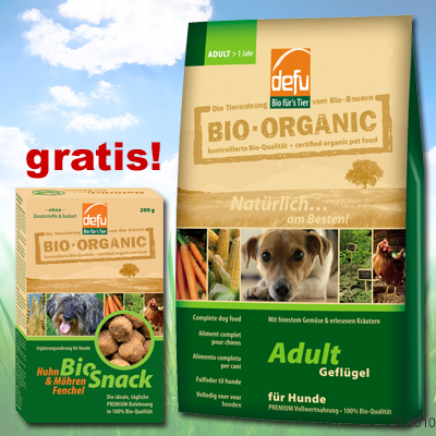 4 kg defu bio hundefutter bio snack gratis junior of zooplus mein haustiershop 113442 2. Black Bedroom Furniture Sets. Home Design Ideas