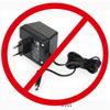 žádné připojení do el. sítě