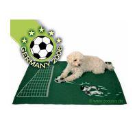 Hundedecke mit Fussballmotiv, wann wenn nicht jetzt?