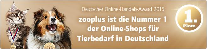 Online Handelsaward Platz 1 im Bereich Tierbedarf!