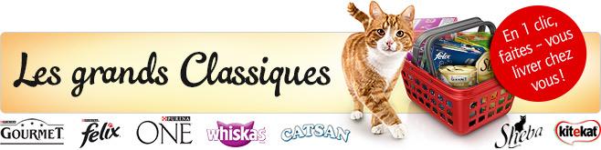 Les grands classiques pour chat