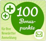 100 Bonuspunkte gratis Newsletter Gutschein
