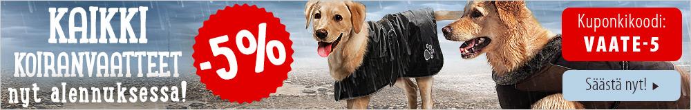 Nyt kaikki koiran vaatteet -5%