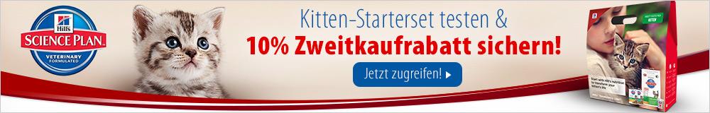 Jetzt das Kitten-Starterset sichern & 10% auf Ihre nächste Hill's Kittenfutter-Bestellung erhalten!