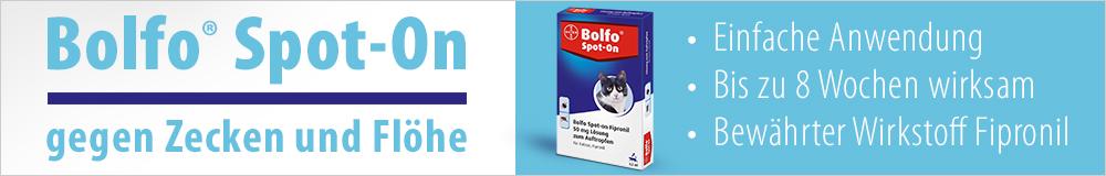 Wirksamer Inseketnschutz mit Bolfo Spot-On!