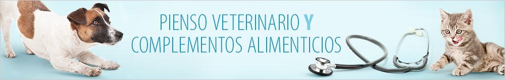 Pienso veterinario y complementos alimenticios para perros y gatos