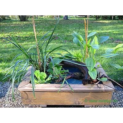 mini gartenteich im m rtelk bel anlegen und bepflanzen. Black Bedroom Furniture Sets. Home Design Ideas
