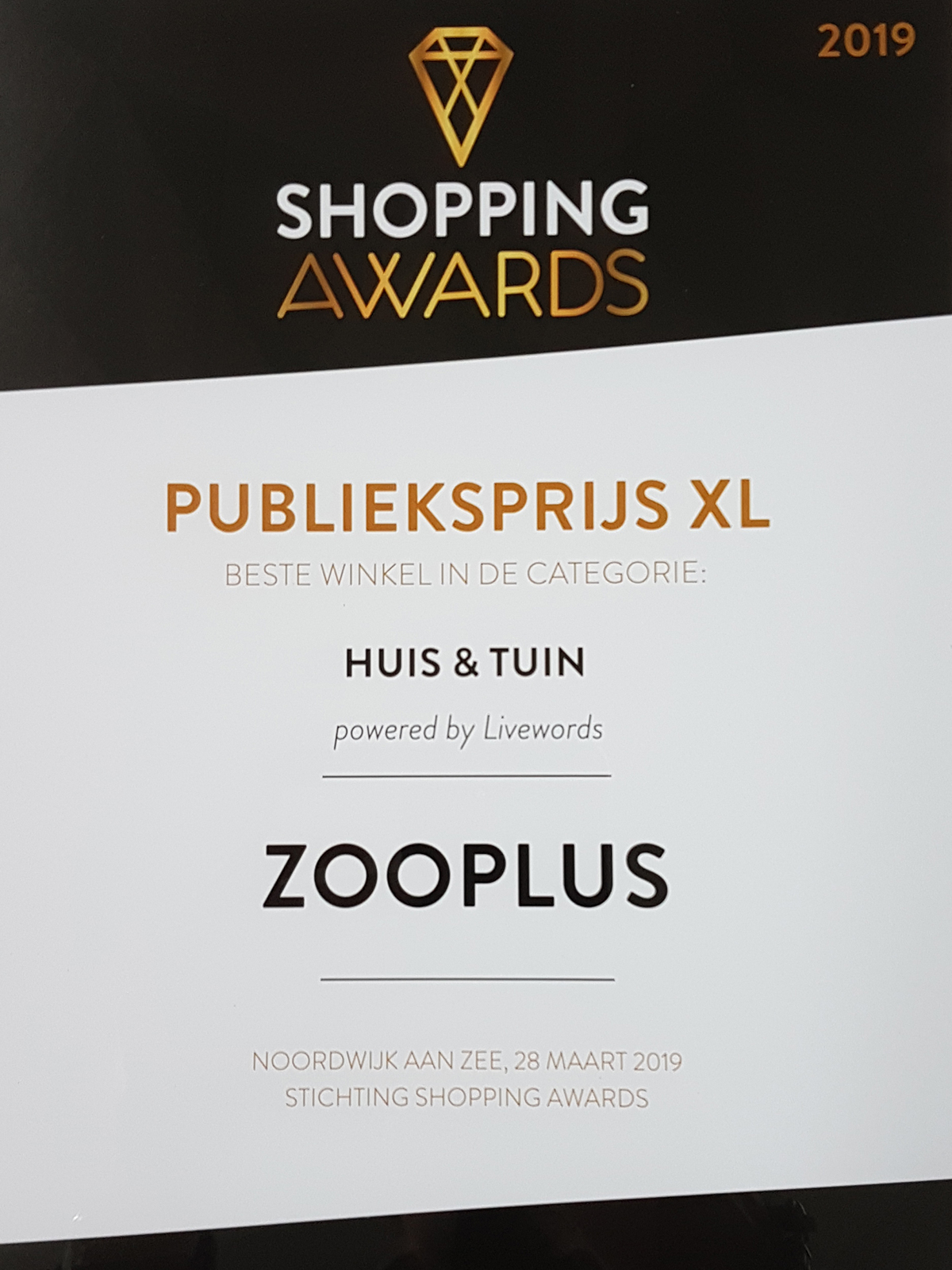 Winnaar Shopping Awards!