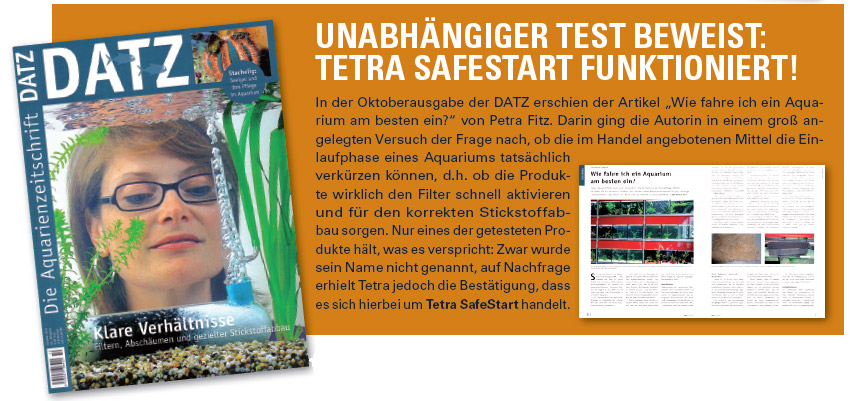 Tetra Safe Start Datz Test