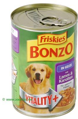 Hunde - Hundefutter Nass - Bonzo Vitality+ in Gelee, 6 x 400 g - Rind + Herz - günstig bestellen!