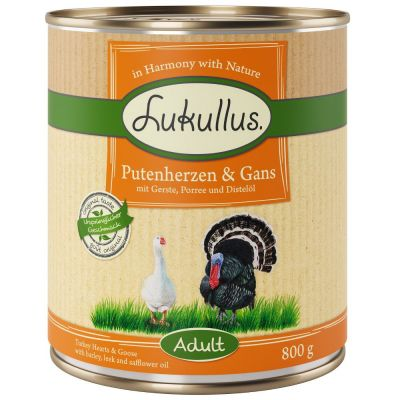 Lukullus für adulte Hunde (z.B. Putenherzen & Gans)