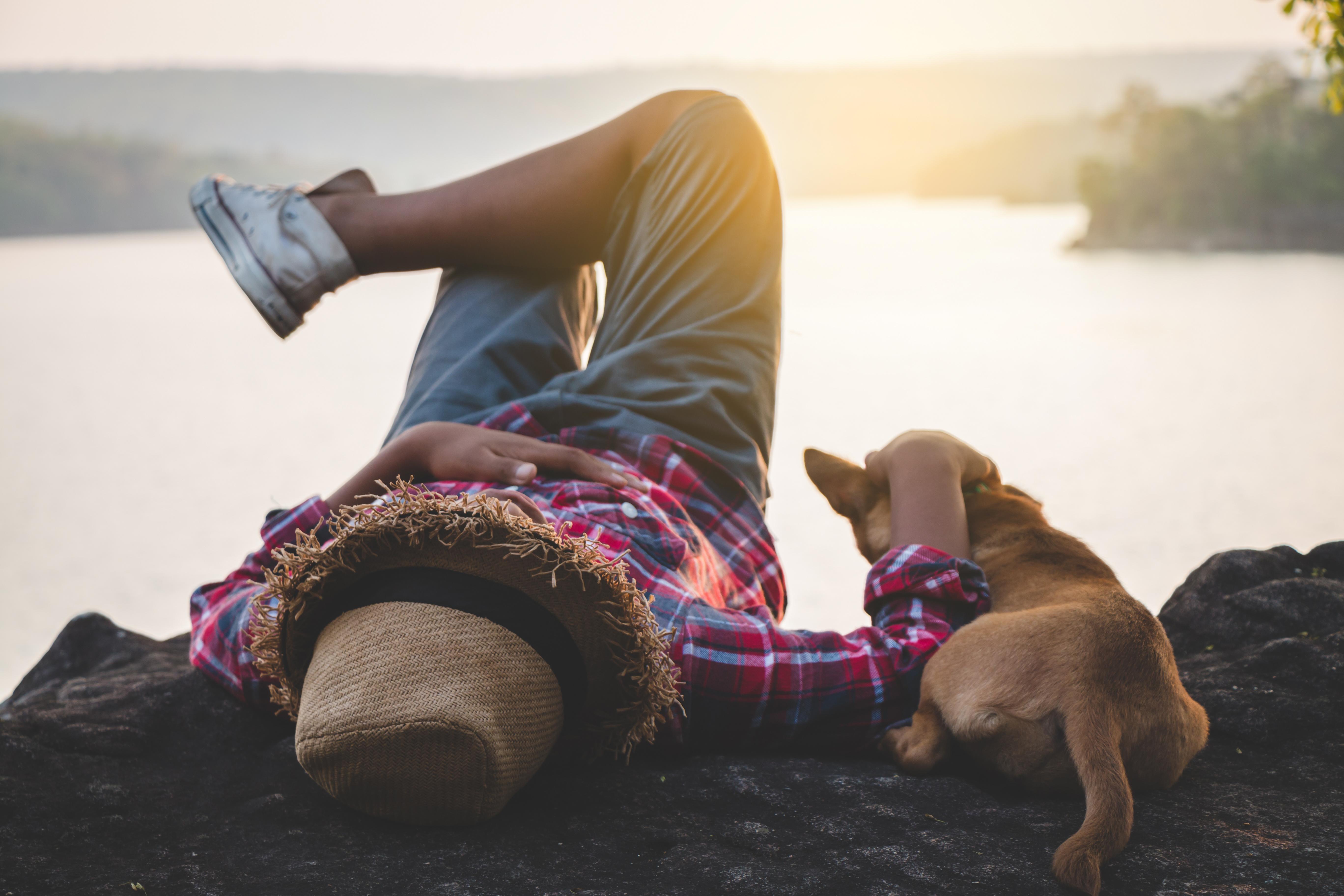 man Urlaub mit Hund